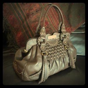 Handbags - Lockheart Genuine Leather magnetic Snap tote